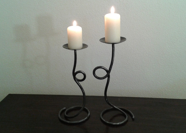 Wrought iron candlestick - No.1011