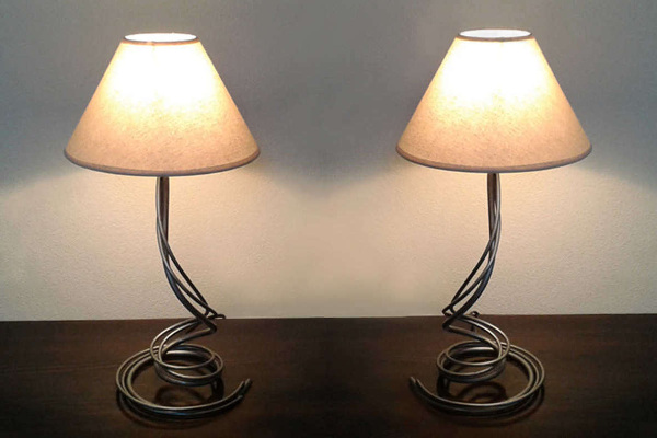 Iron lamps, home decorative lamps and candlesticks