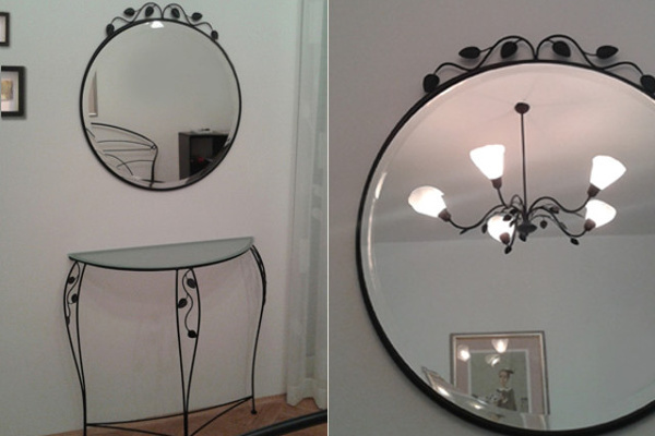 Wrought iron home decorative accessories for interiors