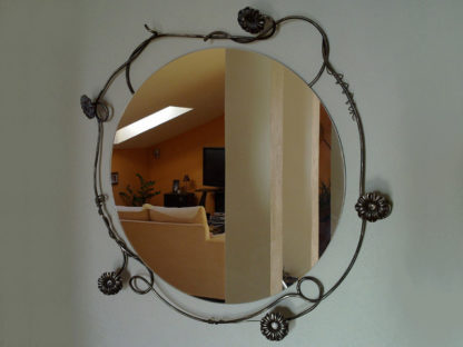 Decorative iron mirror wall mounted