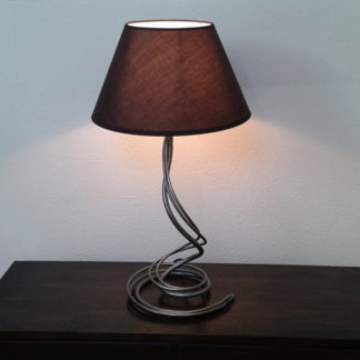 Bedside decorative iron lamp with black lampshade