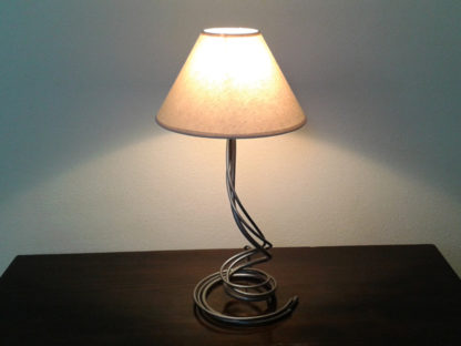 Wrought iron bedside lamp twister