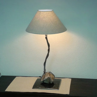Decorative wrought iron bedside lamp with sea stone