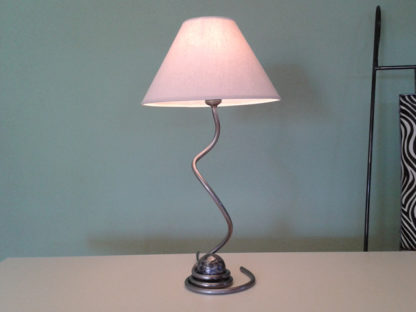 Decorative bedside table iron lamp cone lampshade iron ball