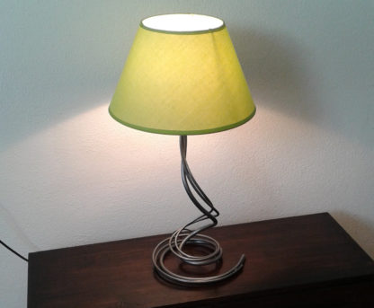 Bedside decorative iron lamp with green lampshade