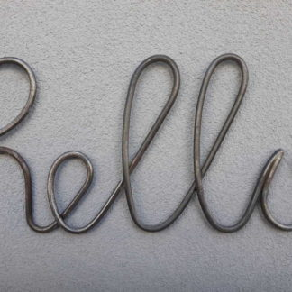 Wrought iron sign hello home decor