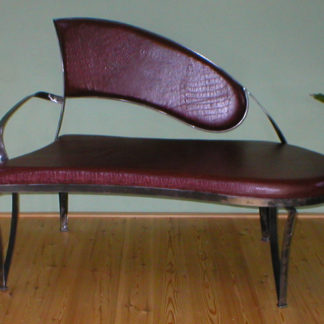 Decorative iron framed with sofa eco-leather upholstery Kate