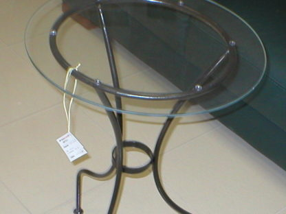 Decorative iron coffee round table lady